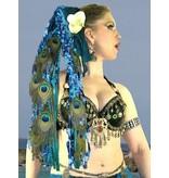 Blue Mermaid Peacock hair extension
