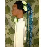 Blue Mermaid - Haarteil aus Bändern
