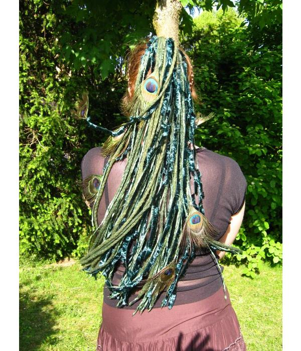 Emerald Fairy Peacock hair fall
