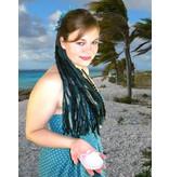 Goth Mermaid yarn hair extension