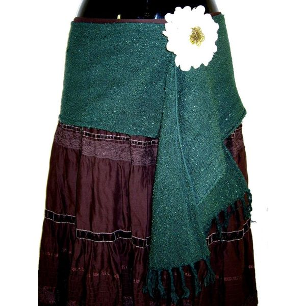 € 5 OFF Emerald hip & hair scarf