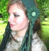 Elfe Hüfttuch & Haartuch smaragdgrün