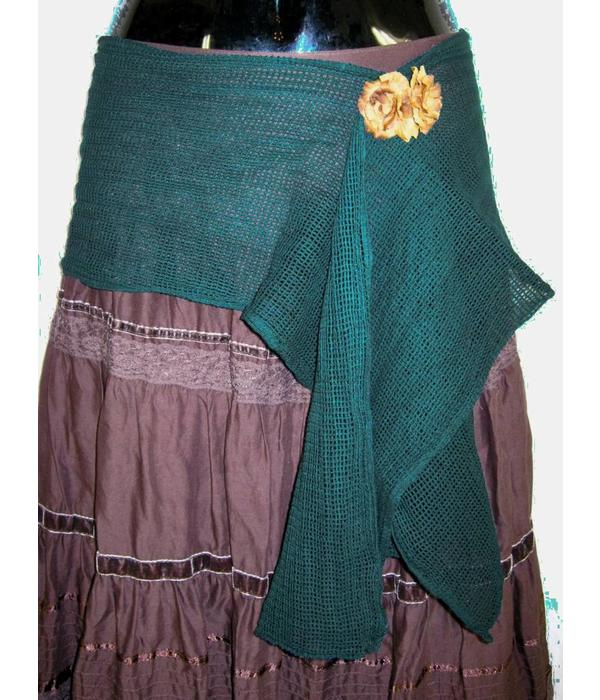 Emerald Fairy net hip & hair scarf