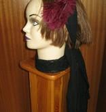 Black net hip & hair scarf