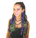 Purple Passion Peacock Yarn Hair Fall