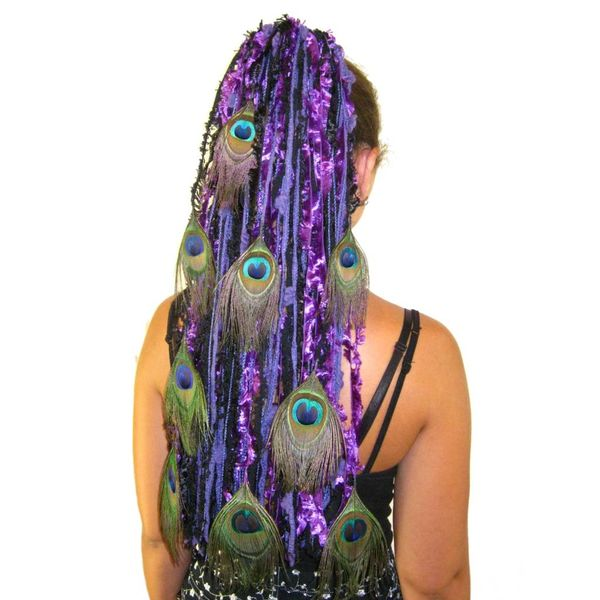 Purple Passion Peacock Hair