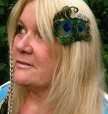Silver Butterfly Peacock Fascinator