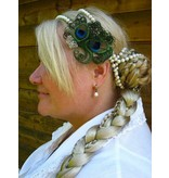 Silver Peacock Butterlfy Fascinator