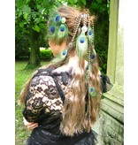 Peacock Feather Silver Tribal Headpiece