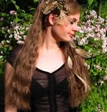 2 x Pfauenfeder Haarclip - helle Federn