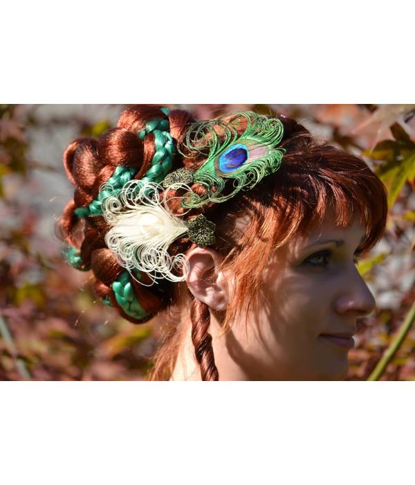 Peacock Fascinators - mixed set