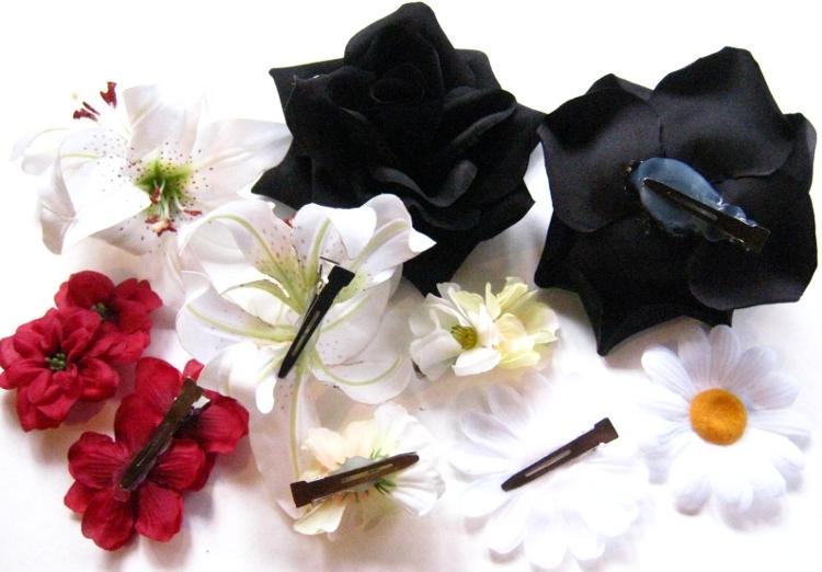 hair flowers professional clip attachment
