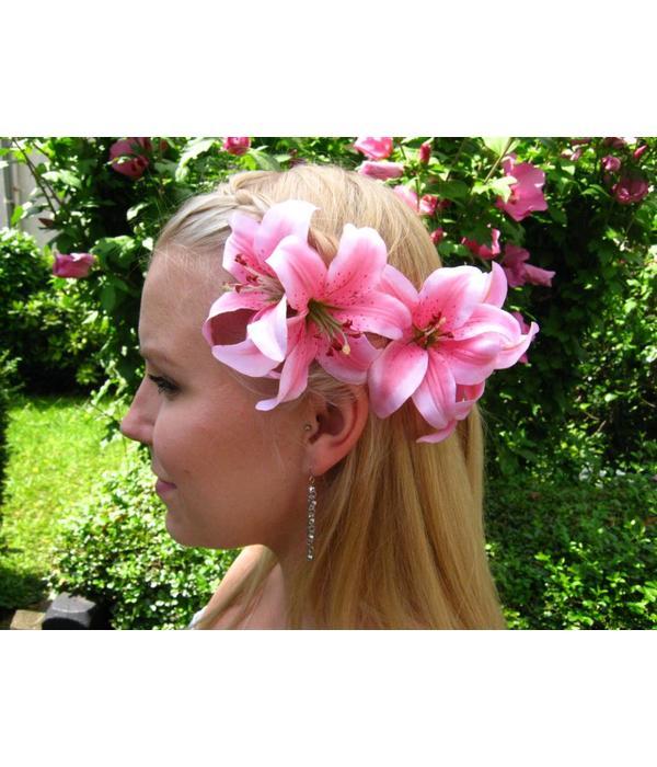 Haarblüte Lilie doppelt rosa 2 x