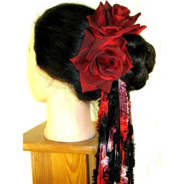 Black-Red Rose 2 x