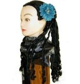 Mermaid Button Hair Flower 2 x