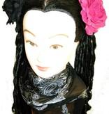 Haarblüten Rose schwarz & pink