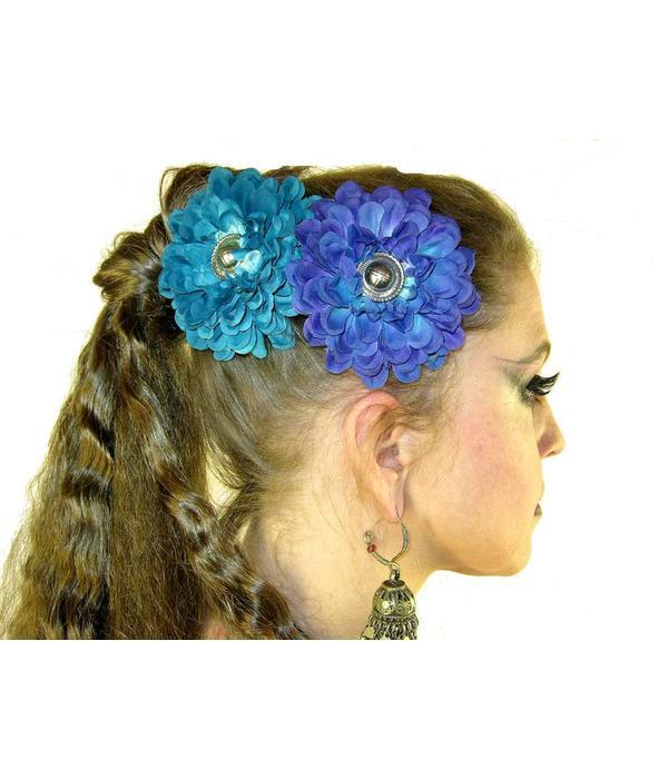 Paradise Button Hair Flower Set