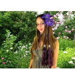 Purple Lily Hair Flower 2 x
