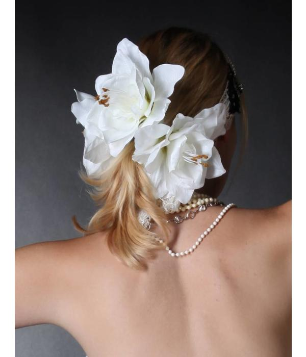 Wedding Amaryllis Hair Flower 2 x