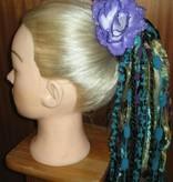 Haarblüten Lila Rosen 2 x