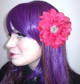 Pink Passion Hair Flower 2 x