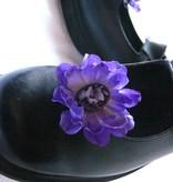 Haarblüten Lila Kamee 2 x