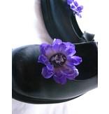 Purple Cameo Hair Flowers 2 x