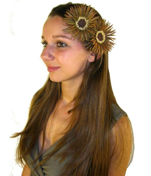 Gipsy Daisy Hair Flower 2 x
