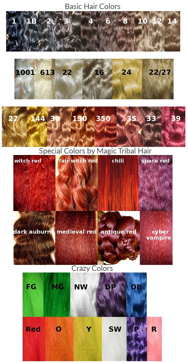 hair colors 55 cm braids hair pieces