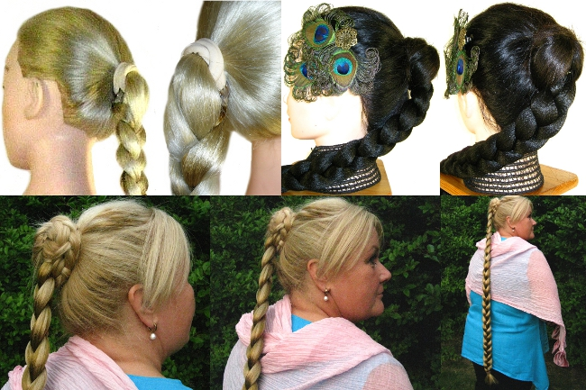 basic hair tie attachment instructions for braid