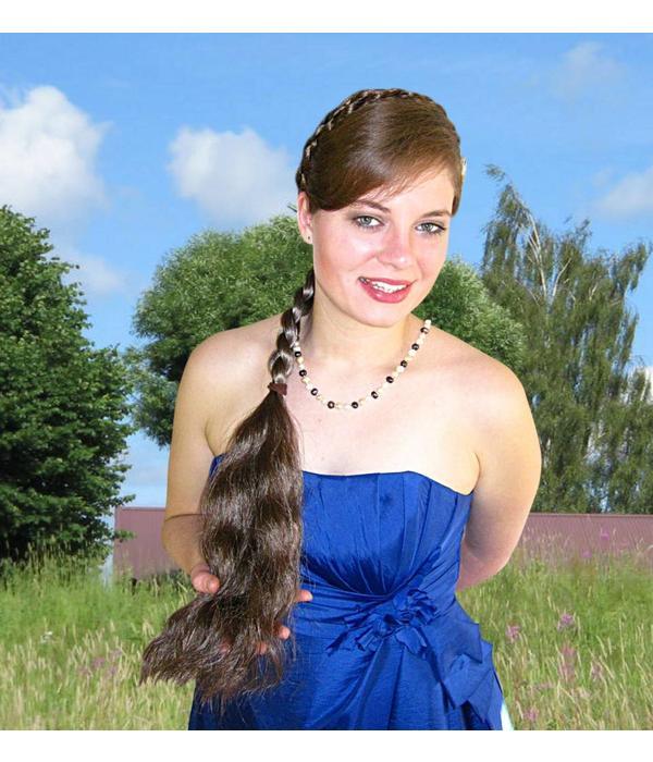 Zopf Größe M, gewelltes Haar