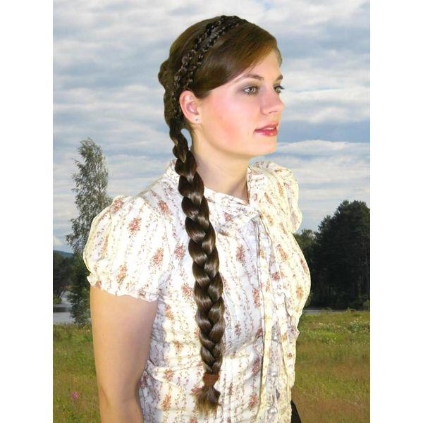Zopf Größe L, gewelltes Haar