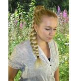 Zopf Größe M, gekrepptes Haar