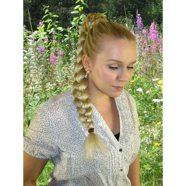 Braid M size, crimped hair