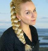 Zopf Größe L, gekrepptes Haar