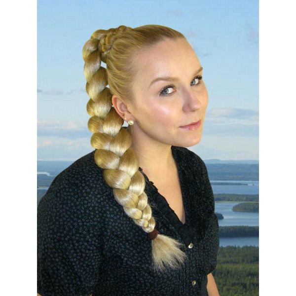 Braid L size, crimped hair