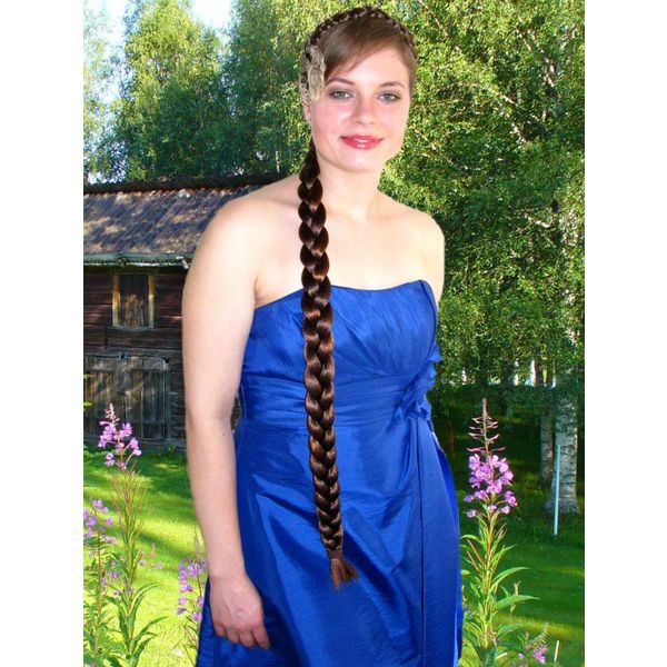 Braid S extra size, crimped hair