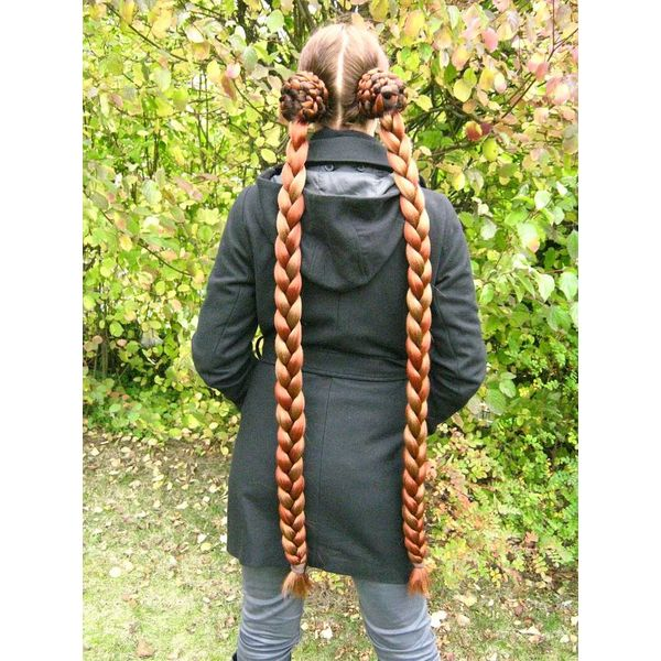Braids 2x M extra size, crimped hair