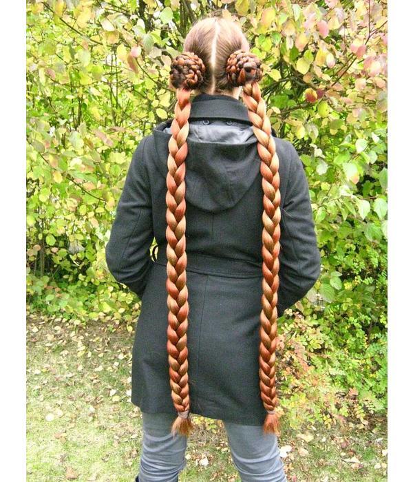 Zöpfe 2 x Größe M extra, gekrepptes Haar