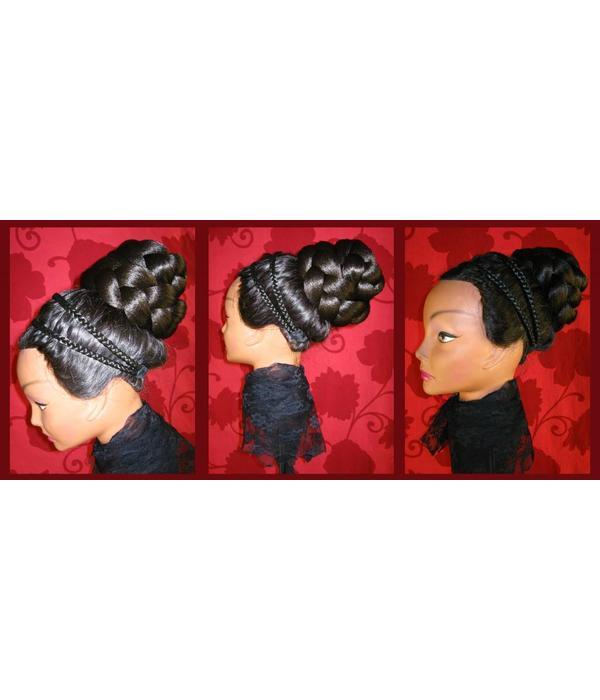 Zopf Größe L extra, gekrepptes Haar
