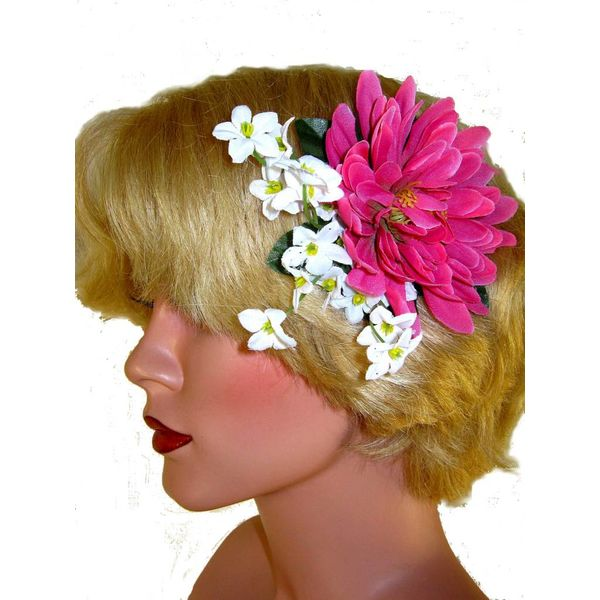 Pink Fairy Hair Flower 2 x