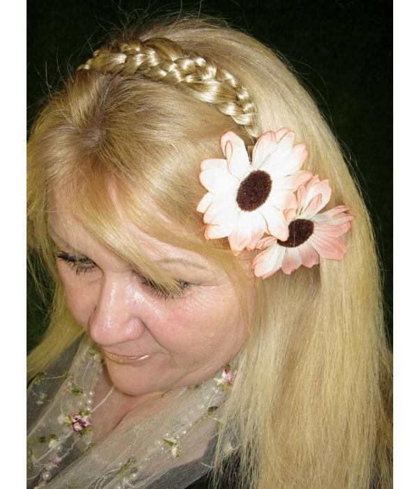 Shabby Chic Gerbera Haarschmuck 2 x