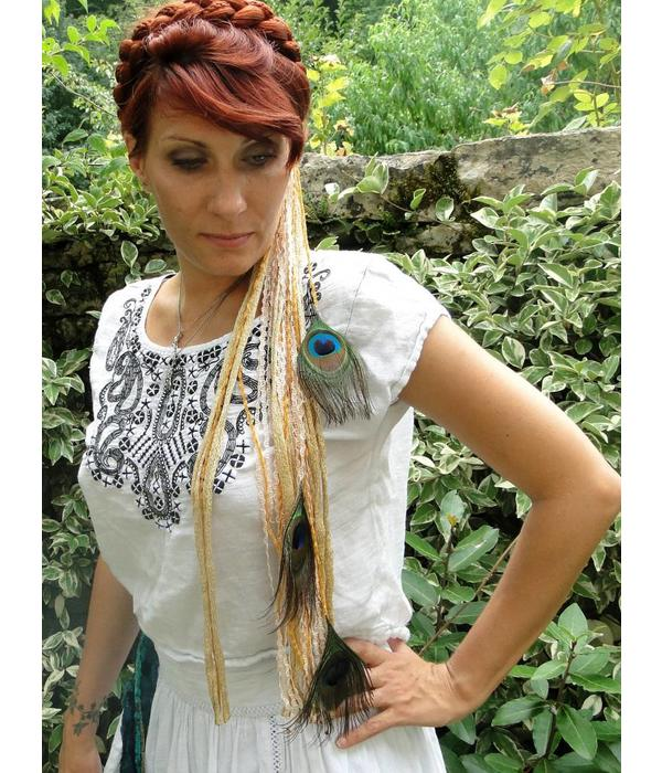 Gipsy Gold Peacock belt & hair accessory