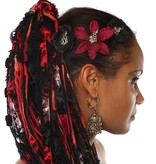 Goth Dragon Hair Flower Set