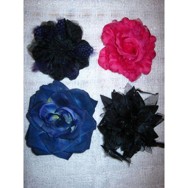 Goth Paradise Hair Flower Set
