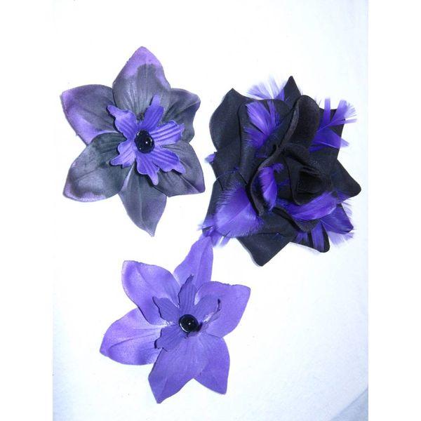 Purple Passion Haarblütenset