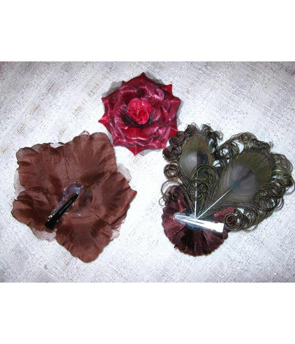 Steampunk Nostalgia Peacock & Flowers Set