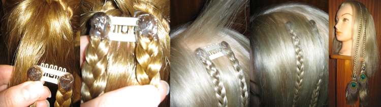 How to attach clip in hair extensions!