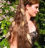 Helle Pfauenfeder Haarverlängerung, 7 Federn