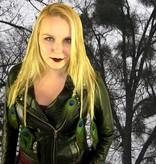 Gothic Pfauenfeder Haarteil M Set